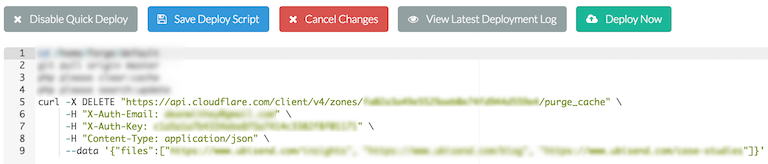 Busting Cloudflare Cache During Laravel Forge Deployment